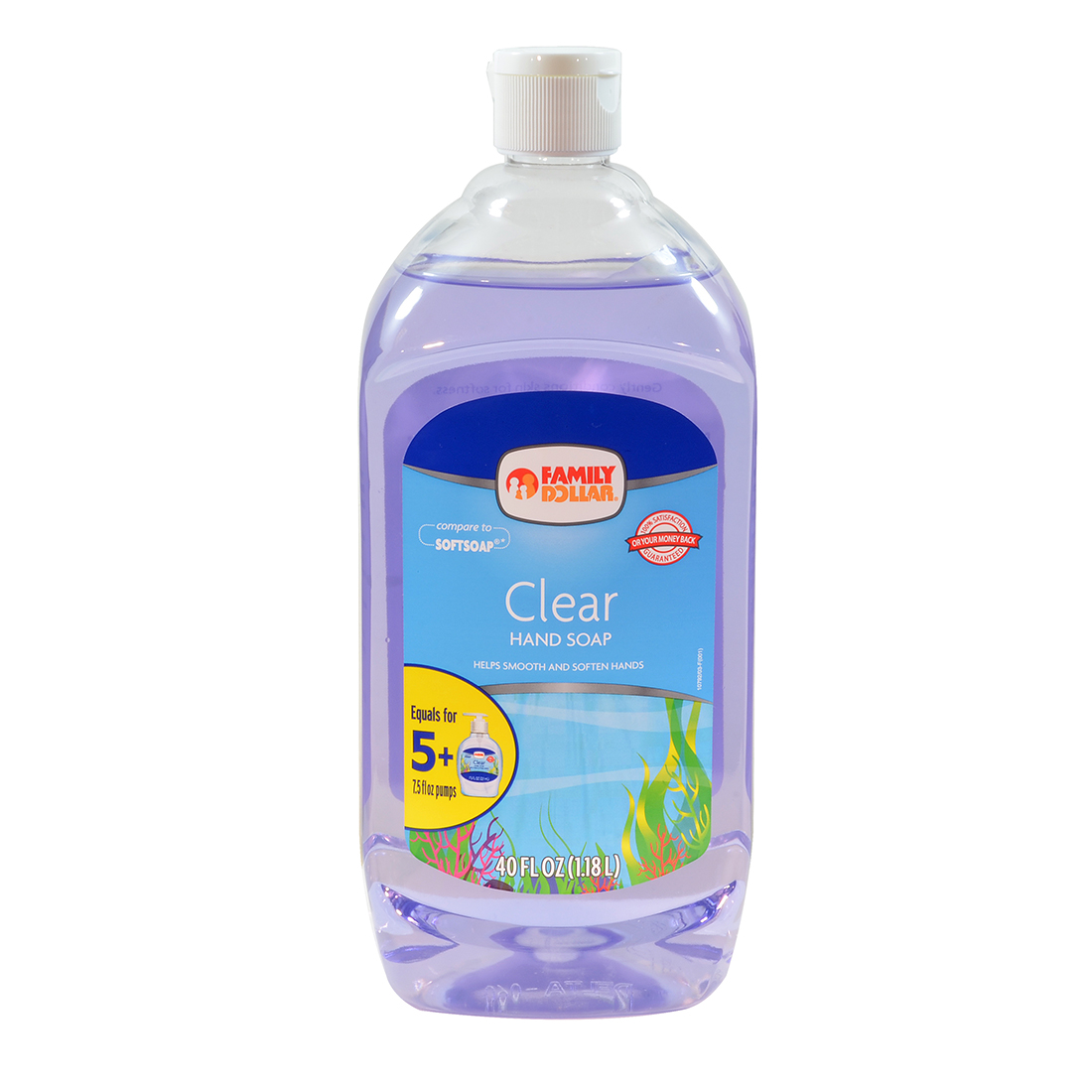 hand soap 40 oz clear refill