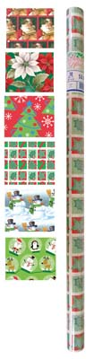 View CHRISTMAS GIFT WRAP 30 SQ FT 30 X 12 INCHES ASSORTED DESIGNS PREPRICED $3.99 **MADE IN USA**