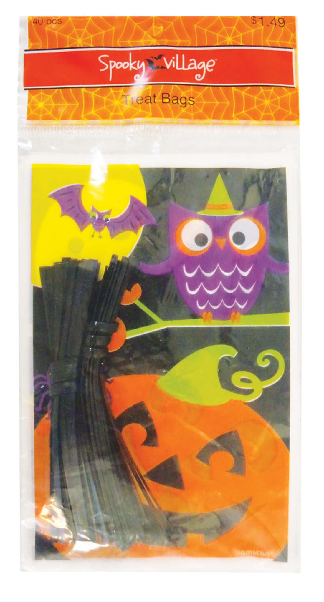 View HALLOWEEN TREAT BAGS 40 COUNT PREPRICED $1.49