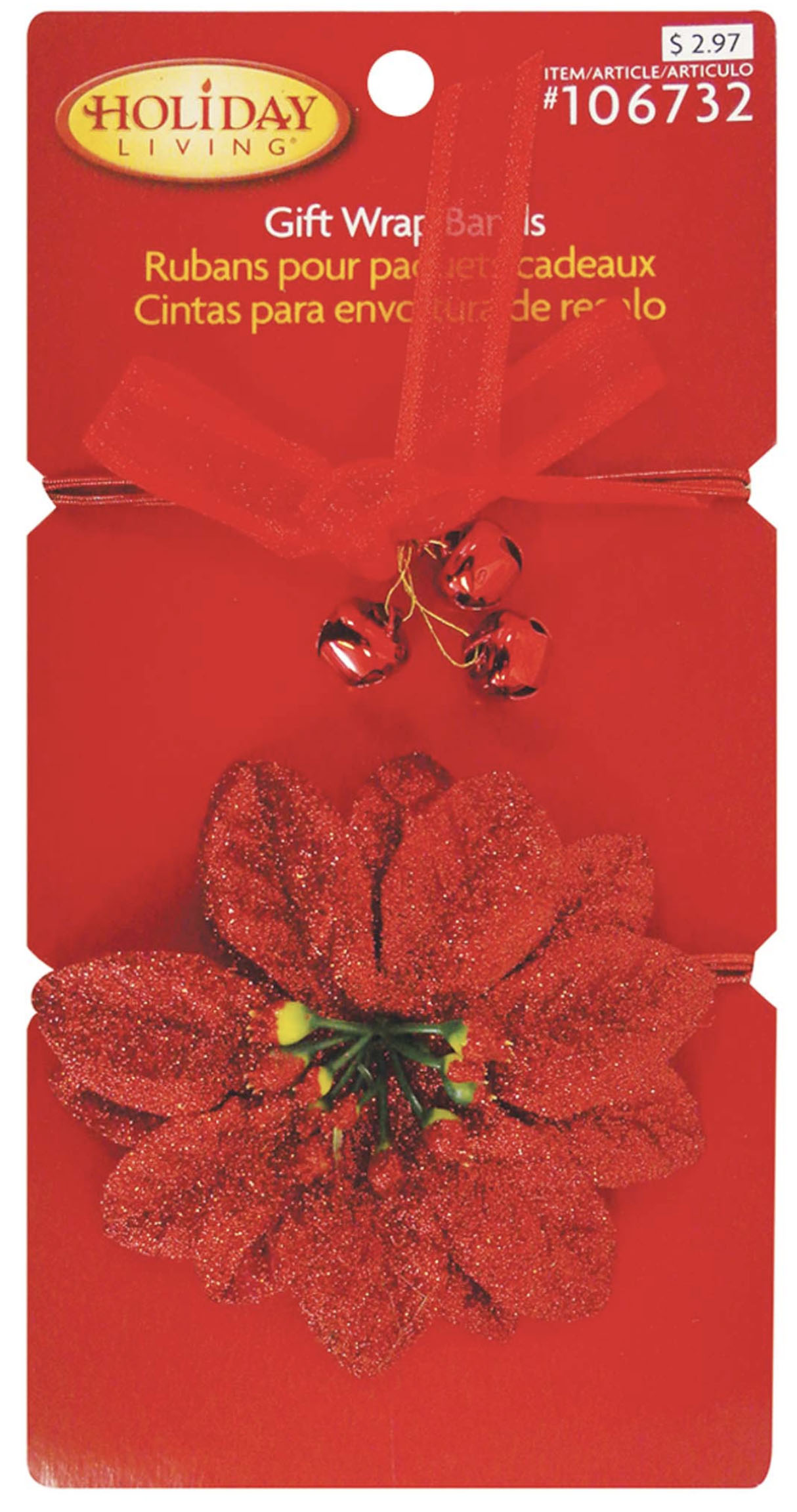 View CHRISTMAS GIFT WRAP BANDS 2 PACK PREPRICED $ 2.97 IN DISPLAY