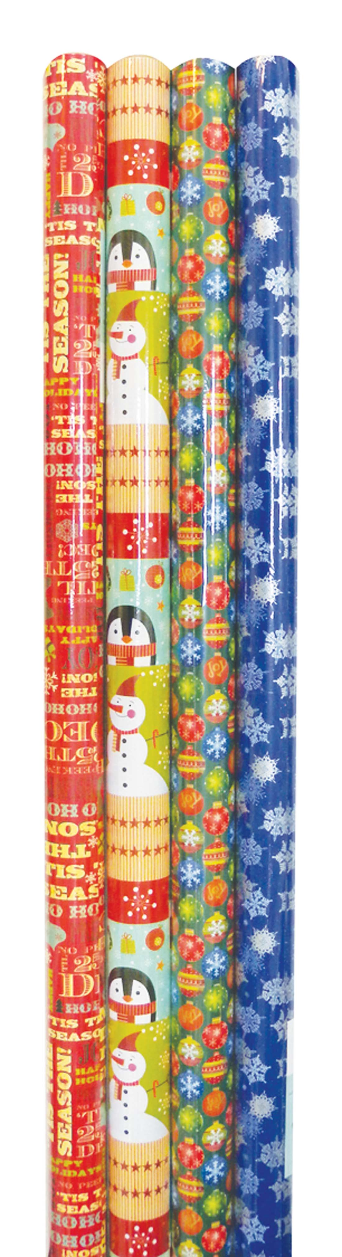 View CHRISTMAS WRAPPING PAPER 40 SQ FT  ASSORTED DESIGNS IN DISPLAY