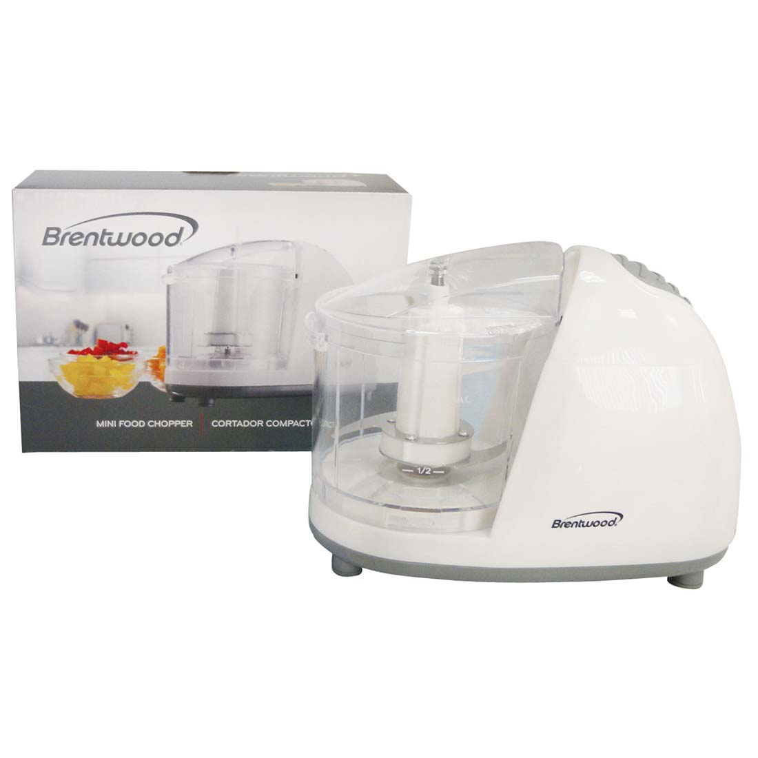 View BRENTWOOD FOOD CHOPPER MINI 1.50 CUP WHITE UL LISTED