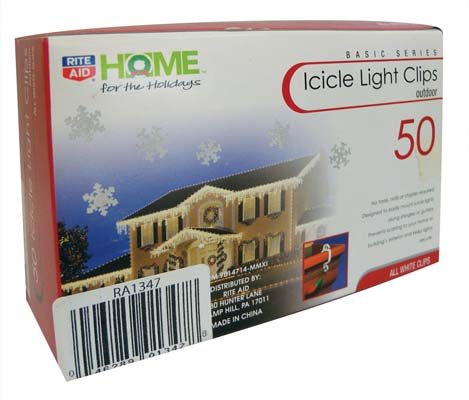 View FAMOUS BRANDS LIGHT CLIPS 50 CT ICICLE WHITE