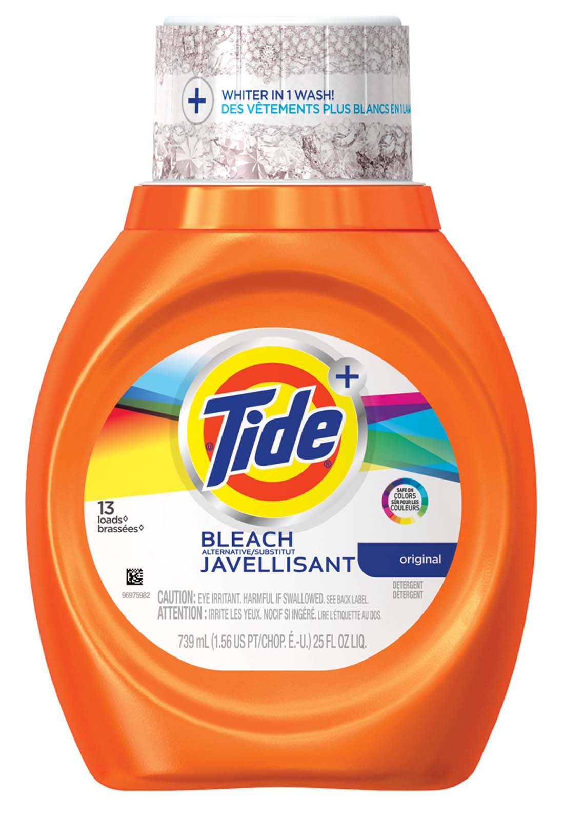 View TIDE LIQUID LAUNDRY DETERGENT 25 OZ 13 LOADS WITH BLEACH