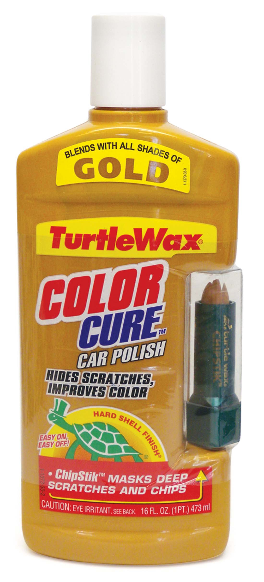 View TURTLEWAX CAR POLISH 16 OZ COLOR CURE WITH CHIPSTIK GOLD