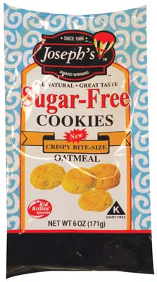 View JOSEPHS COOKIES 6 OZ BAG BITE SIZE SUGAR FREE OATMEAL
