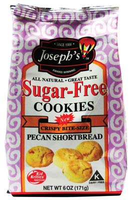 View JOSEPHS COOKIES 6 OZ BAG BITE SIZE SUGAR FREE PECAN SHORTBREAD