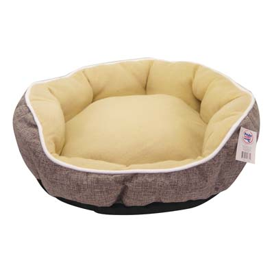 View SOFT PET BED 21 INCH ROUND GREY
