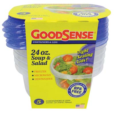 View GOODSENSE SOUP&SALAD CONTAINER 24OZ 5CT