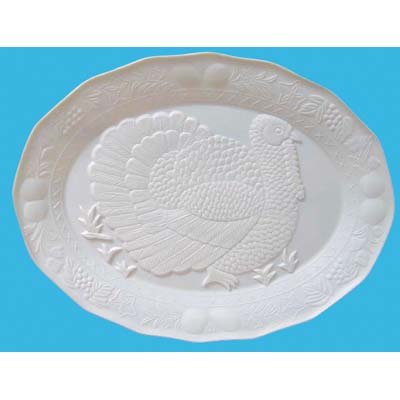 View PLASTIC PLATTER TURKEY DESIGN 13 X 17 INCH