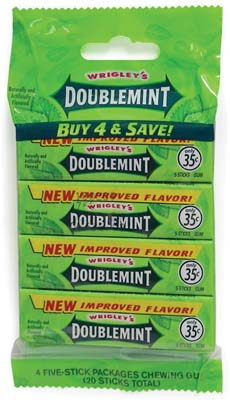 View WRIGLEY'S GUM 4 PACK DOUBLEMINT