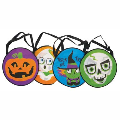 "View HALLOWEEN TRICK OR TREAT BAG ROUND SIZE 14 X 14"" PREPRICED $ 2.49"