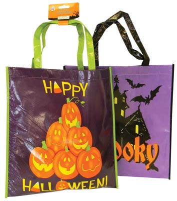 View PRIDE HALLOWEEN TRICK OR TREAT BAG 15.5 X 14 INCH ASSORTED DESIGNS