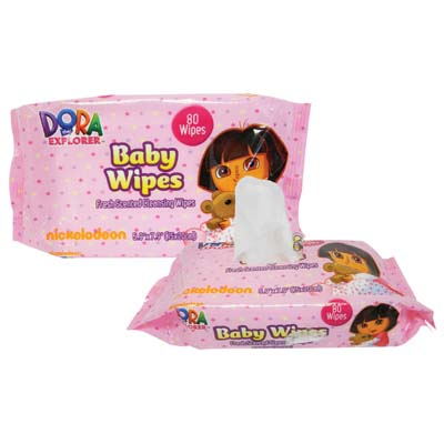 View DORA BABY WIPES 80 COUNT FRESH SCENT