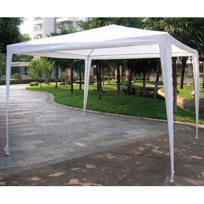 View GAZEBO 10 X 10 FEET WHITE WITH TUBULAR FRAME