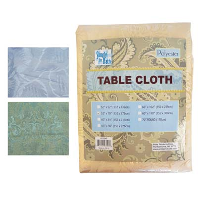 View SIMPLY FOR BATH HIGH QUALITY FABRIC TABLE CLOTH 52 X70 INCH BEIGE