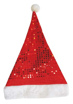 View CHRISTMAS HAT 16.5 X 2 INCH SEQUINS DESIGN