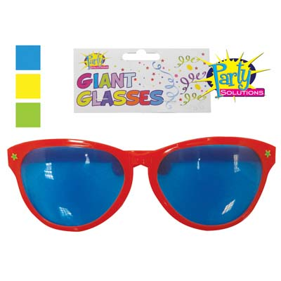 View GIANT PARTY GLASSES 10 INCH ASSORTED COLORS