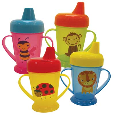 View SPILLPROOF CUP 8 OUNCE ASSORTED PRINTED DESIGNS