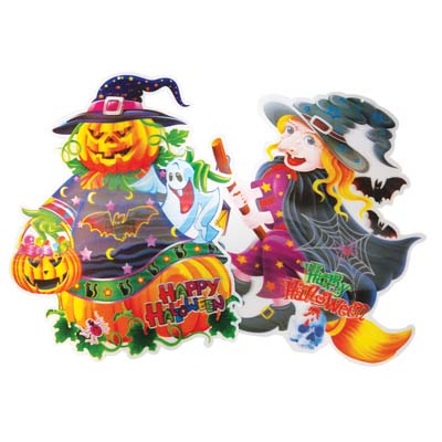 View HALLOWEEN WALL DECORATION 17 X 15 INCH 3D
