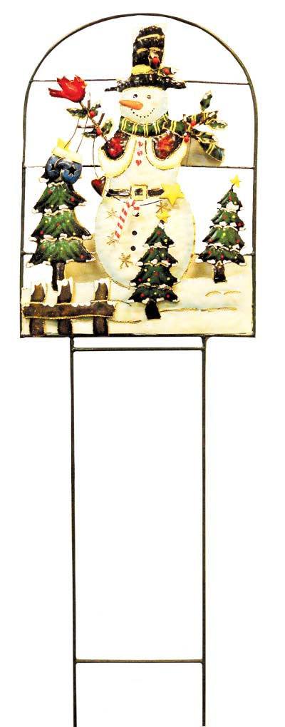 View CHRISTMAS HAND PAINTED LAWN DECORATION LARGE 41 INCH X 12.5 INCH WIDE