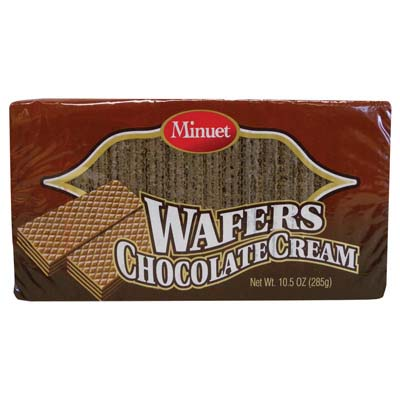 View MINUET WAFERS CHOCOLATE CREAM 10.5 OZ