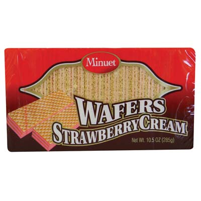 View MINUET WAFER STRAWBERRY CREAM 10.5 OZ