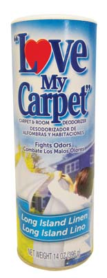 View LOVE MY CARPET & ROOM DEODORIZER 14 OZ LONG ISLAND LINEN