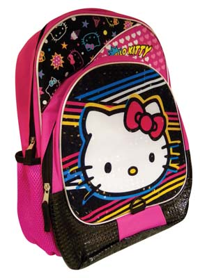 View BACKPACK 16 INCHES HELLO KITTY WITH FRONT AND SIDE POCKETS