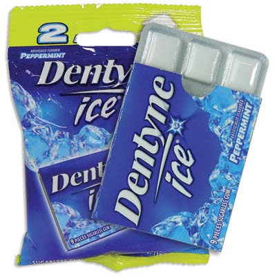 View DENTYNE ICE GUM 2 PACK PEPPERMINT