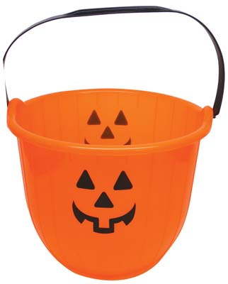 View PLASTIC PUMPKIN BUCKET 8 X 6 INCHES ORANGE