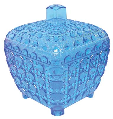 View PRIDE CANDY CANISTER SQUARE 4.5 X 4.5 X 4.5 INCHES ASSORTED CRYSTAL COLORS