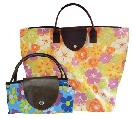 View PRIDE LADIES' BAG FOLDABLE 17.5 X 14.5 X 5.5 INCHES ASSORTED DESIGNS