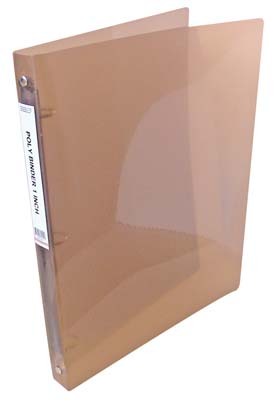View POLY BINDER 3 RING  1 INCH ASSORTED COLORS