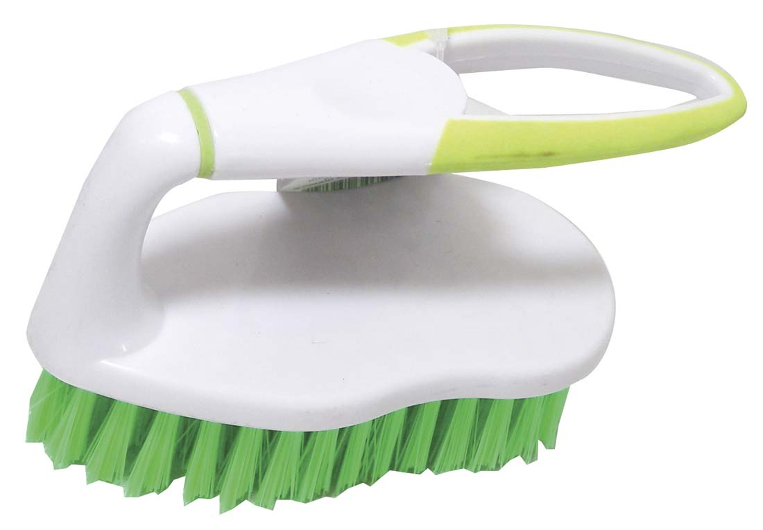 View SCRUB BRUSH WITH RUBBER HANDLE 5 INCHES