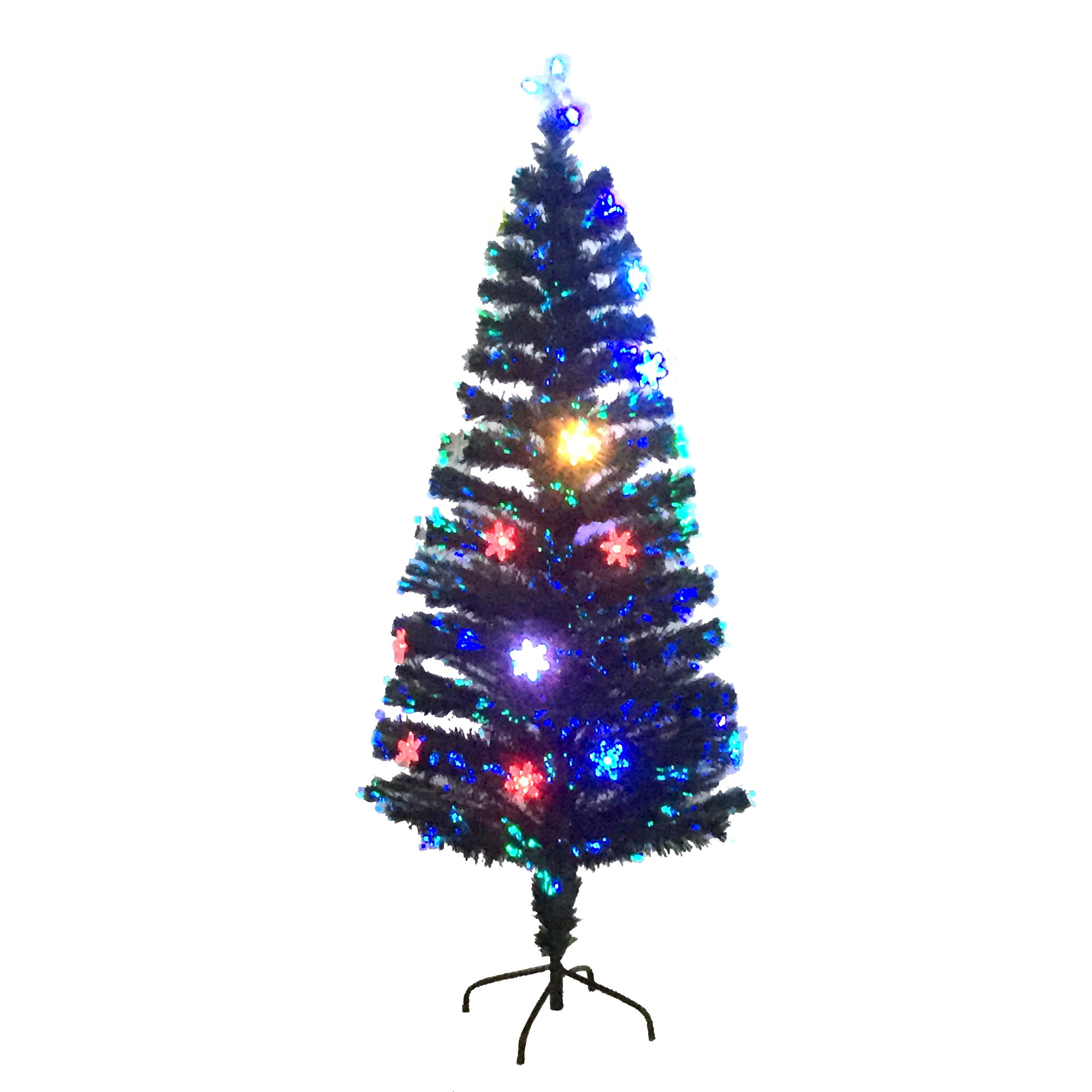 Party Solutions Christmas Tree 4 Ft Fiber Optic 130 Pre Lit