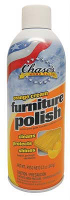 "View CHASE'S FURNITURE POLISH 12 OZ ORANGE ""MADE IN USA"""