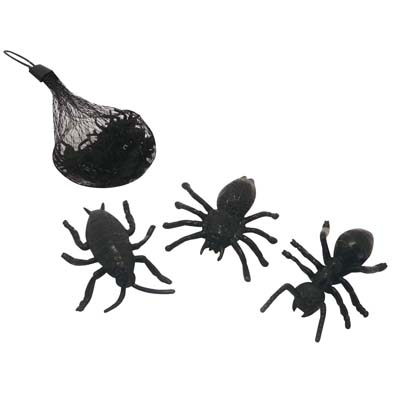 View HALLOWEEN MINI SPIDER DECORATION 12 PACK PREPRICED $0.97