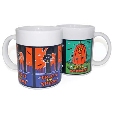 View HALLOWEEN MUGS CERAMIC 10.5 OZ ASSORTED DESIGNS