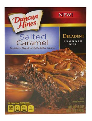 View DUNCAN HINES BROWNIE MIX 18OZ SALTED CARMEL EXP: 2/17/2016