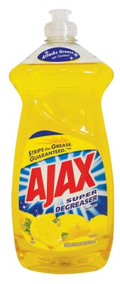 View AJAX DISHWASHING LIQUID 28 OZ SUPER DEGREASER LEMON **MADE IN USA**