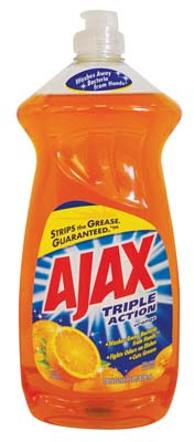 View AJAX DISHWASHING LIQUID 28 OZ TRIPLE ACTION ORANGE **MADE IN USA**