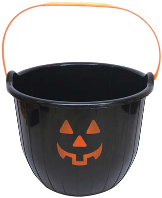 View PRIDE HALLOWEEN BUCKET 8 X 6 INCHES BLACK