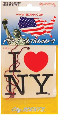 View I LOVE NEW YORK CAR AIR FRESHENER