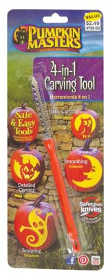 View PUMPKIN CARVING TOOL 4-IN-1 PREPRICED $ 2.49