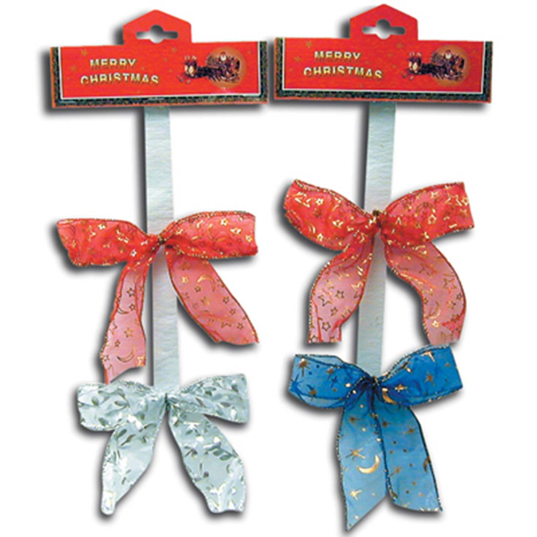 View CHRISTMAS SILK BOWS 2 PACK ASSORTED COLORS