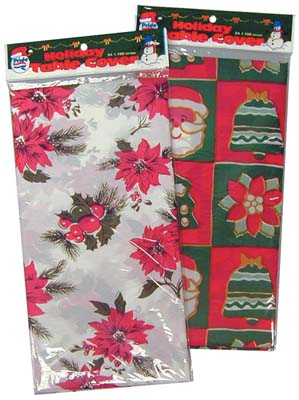 View TABLE COVER CHRISTMAS DESIGN  54x108 INCH