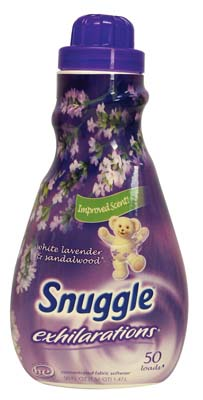 View SNUGGLE 50 OZ/1.56 QUART EXHILARATIONS  WHITE LAVENDER & SANDALWOOD FABRIC SOFTENER