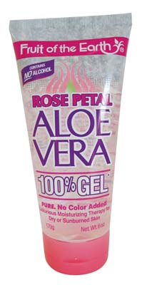 View FRUIT OF THE EARTH ALOE VERA GEL 6 OZ ROSE PETAL