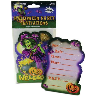 View HALLOWEEN PARTY INVITATIONS 8 COUNT WITH ENVELOPES